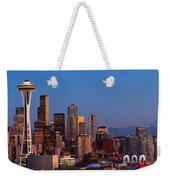 Seattle Winter Evening Panorama Weekender Tote Bag