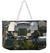 Seattle With Aerial View Of The Newly Renovated Husky Stadium Weekender Tote Bag