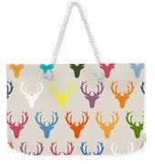 Seaview Simple Deer Heads Weekender Tote Bag