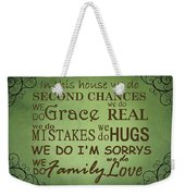 Second Chances In This House Weekender Tote Bag