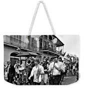 Second Line Parade Bw Weekender Tote Bag
