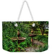 Secret Garden Birdbath Weekender Tote Bag