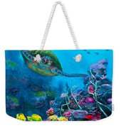 Secret Sanctuary - Hawaiian Green Sea Turtle And Reef Weekender Tote Bag