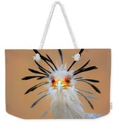 Secretary Bird Portrait Close-up Head Shot Weekender Tote Bag by Johan Swanepoel