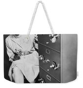 Secure Filing Cabinet Weekender Tote Bag by Underwood Archives