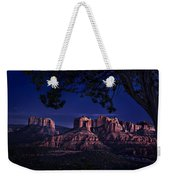 Sedona Cathedral Rock Post Sunset Glow Weekender Tote Bag