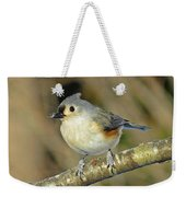 Seed On Tufted Titmouse Weekender Tote Bag