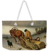 Seeing Off The Dead, 1865 Oil On Canvas Weekender Tote Bag