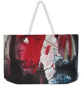 Seem To Happen Suddenly  Original Abstract Colorful Landscape Painting For Sale Red Blue Green Weekender Tote Bag