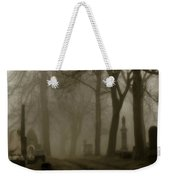 A Graveyard Seeped In Fog Weekender Tote Bag