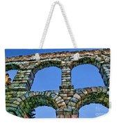 Segovia Aqueducts Blue By Diana Sainz Weekender Tote Bag