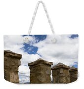 Segovia Wall Against Blue Sky Weekender Tote Bag