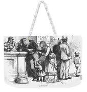 Segregated Saloon, 1875 Weekender Tote Bag