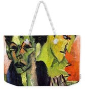 Self-portrait - Double Portrait Weekender Tote Bag
