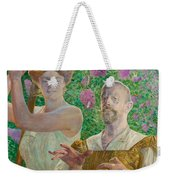 Self-portrait With Muse And Buddleia Weekender Tote Bag