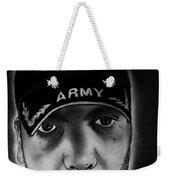 Self Portrait With Us Army Retired Cap Weekender Tote Bag