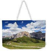 Sella Group. Italian Dolomites Weekender Tote Bag