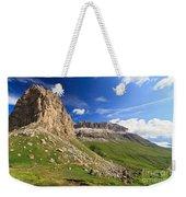 Sella Mountain And Pordoi Pass Weekender Tote Bag