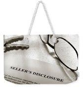 Seller Property Disclosure Weekender Tote Bag