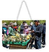 Selling Fresh Pineapple On Street In Lhasa-tibet    Weekender Tote Bag