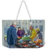 Selling Vegetables At The Market Weekender Tote Bag