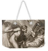 Semele Is Consumed By Jupiters Fire Weekender Tote Bag by Bernard Picart