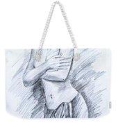 Semi Nude Weekender Tote Bag