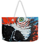 Semiabstract Parrot Weekender Tote Bag