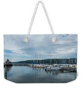 Seneca Lake Harbor - Watkins Glen - Wide Angle Weekender Tote Bag