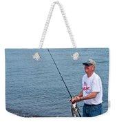 Senior Caught A Pollock In Kachemak Bay Off Homer Spit-alaska Weekender Tote Bag