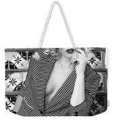Sensational Stripes Bw Fashion Weekender Tote Bag