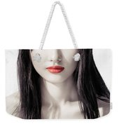 Sensual Artistic Beauty Portrait Of Young Asian Woman Face Weekender Tote Bag