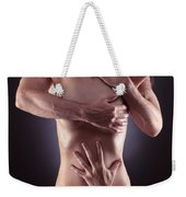 Sensual Photo Of Male Hands Embracing A Woman Weekender Tote Bag