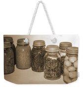 Sephia Vintage Kitchen Glass Jar Canning Weekender Tote Bag