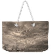 Sepia Angry Skies Weekender Tote Bag
