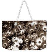 Sepia Asters Weekender Tote Bag