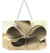 Sepia Bloom Negative Weekender Tote Bag
