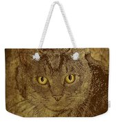 Sepia Cat Weekender Tote Bag