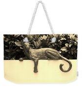 Sepia Cat Weekender Tote Bag
