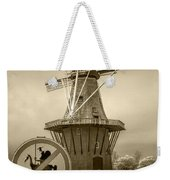 Sepia Colored No Tilting At Windmills Weekender Tote Bag