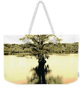 Sepia Cypress Chicot Sp Louisiana Weekender Tote Bag