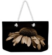 Sepia Daisy Weekender Tote Bag