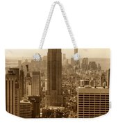 Sepia Empire State Building New York City Weekender Tote Bag