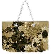 Sepia Garden Sunflower Bouquet Weekender Tote Bag