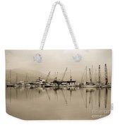 Sepia Harbor Weekender Tote Bag