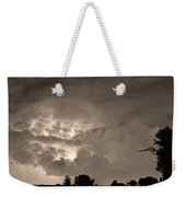 Sepia Light Show Weekender Tote Bag