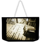 Sepia - Nature Paws In The Snow Weekender Tote Bag