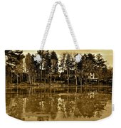 Sepia Reflection Weekender Tote Bag