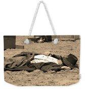 Sepia Rodeo Gunslinger Victim Weekender Tote Bag