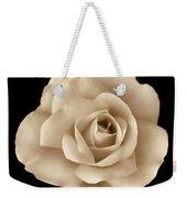Sepia Rose Flower Portrait Weekender Tote Bag